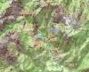Carte IGN du secteur Carciara-Paliri avec le tracé des travaux de l'operata du 18/10/2020