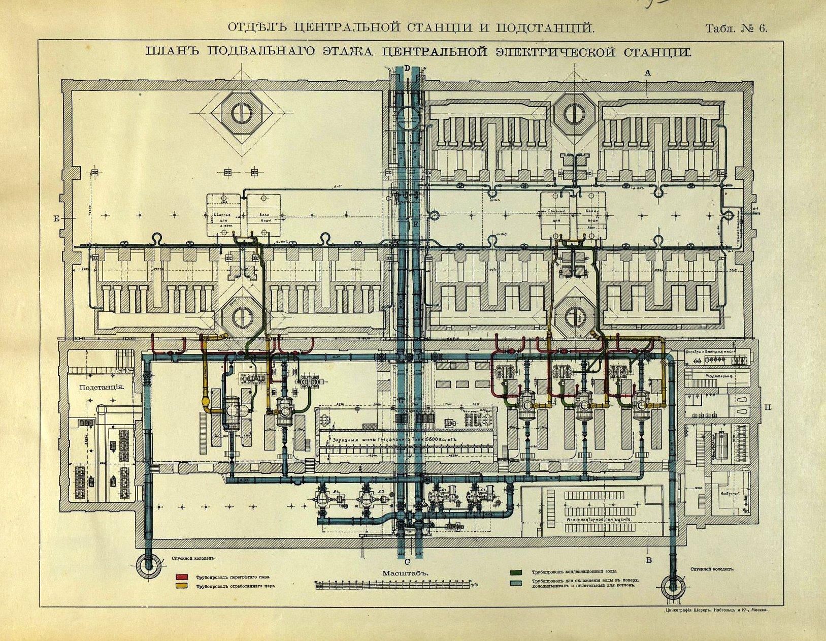 09. Центральная электрическая станция. План подвального этажа