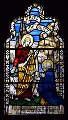 Christ and St Peter: 'feed my sheep' (Powell & Sons, 1931)