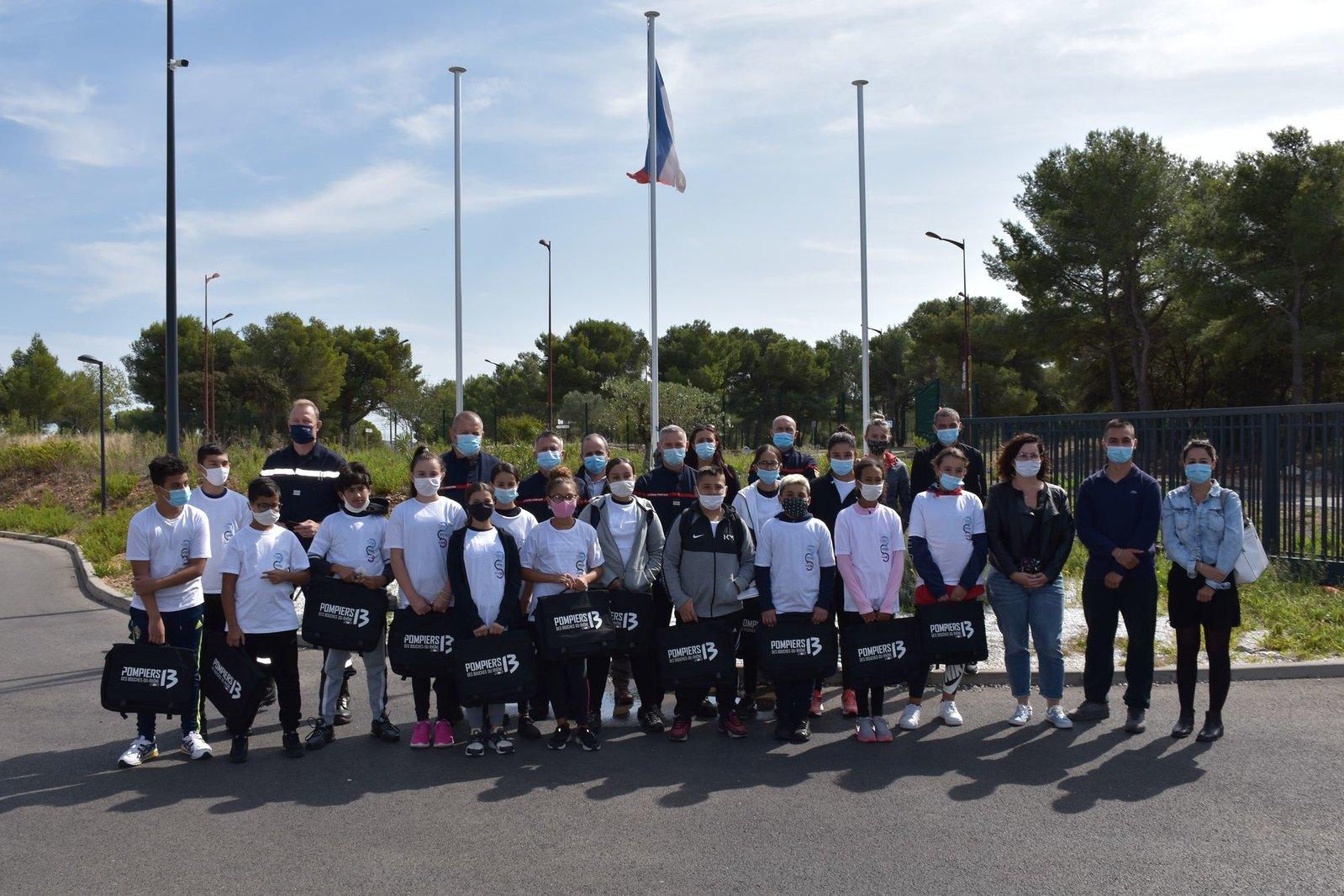 Les cadets de la Sécurité civile se lancent à Port-de-Bouc