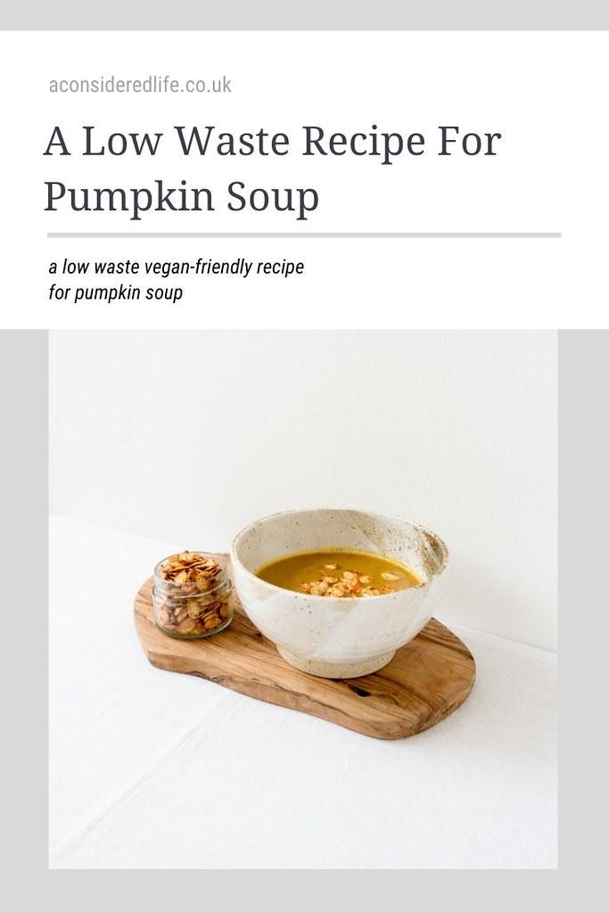 A Recipe For Pumpkin Soup