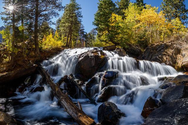 Eastern Sierra Waterfall in Fall