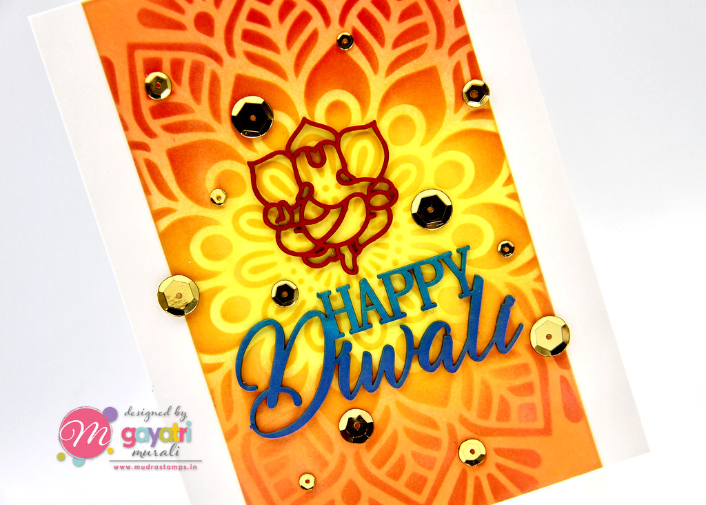 HappyDiwali card#1 closeup