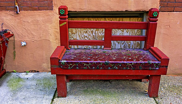 HBM!  Red Bench