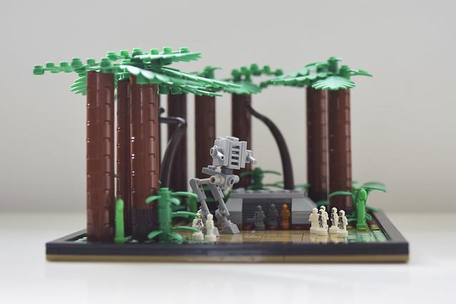 Lego microscale - Return of the Jedi - battle of Endor - atana studio