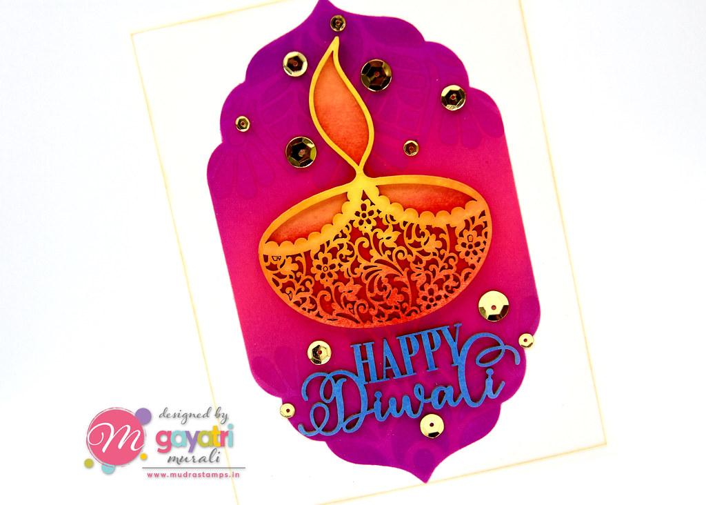 HappyDiwali card clseup