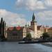 La tour orientale du pont Charles et le musée Smetana