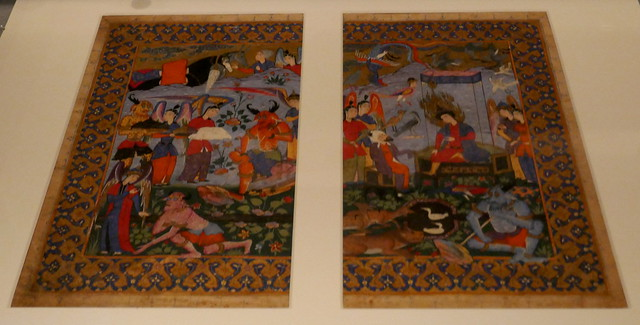Miniature, Qazvin vers 1570, collection  David, Kronprinsessegade, Amalienborg, Copenhague, Danemark.