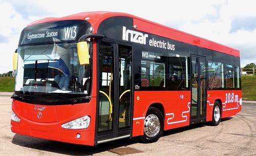 Irizar i2e electric bus demonstrator  on Dennis Basford's railsroadsrunways.blogspot.co.uk'