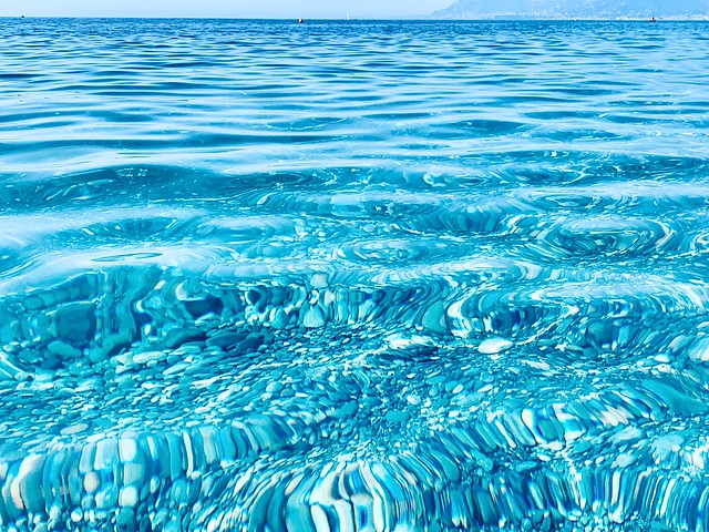 September Sea in Bordighera, Italy.