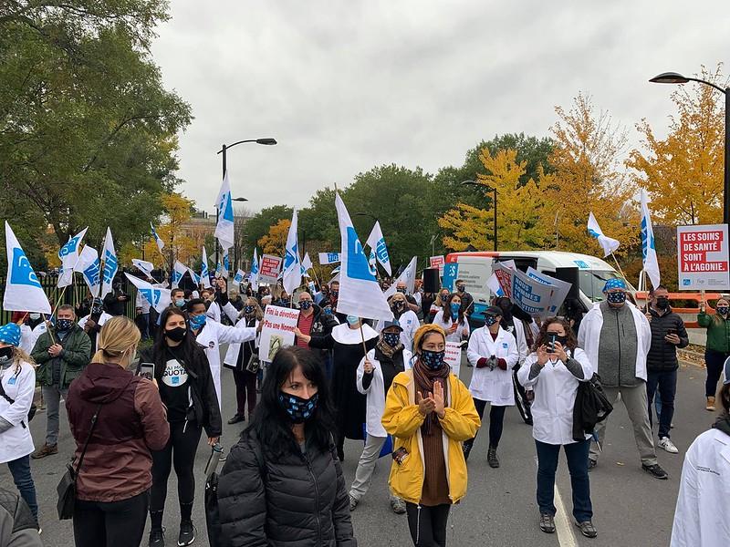 2020-10-19 - Des ponts de Québec et de Montréal pris d'assaut