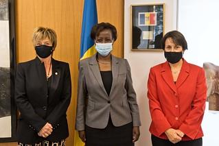 Visita de la Secretaria general de la Francofonia, S.E. Mme. Louise Mushikiwabo. 19/10/2020