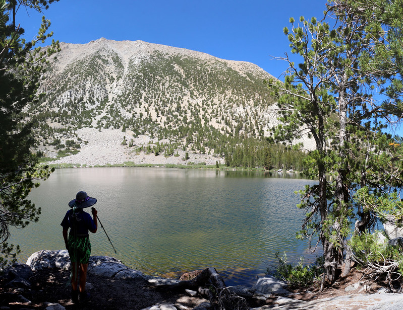 We made our way to Black Lake and took a welcome break in the shade
