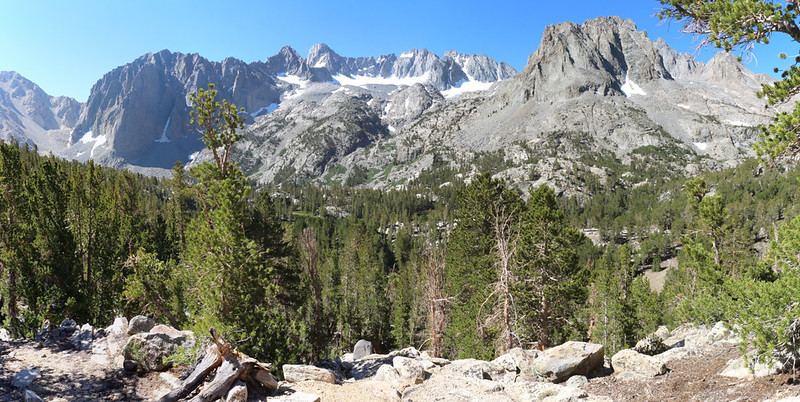 We headed cross-country from Summit Lake toward Sixth Lake and took in high views from 11,000 feet elevation