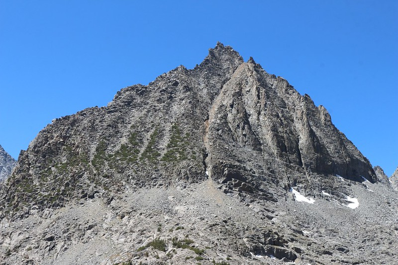Close-up shot of Two Eagle Peak from Sixth Lake