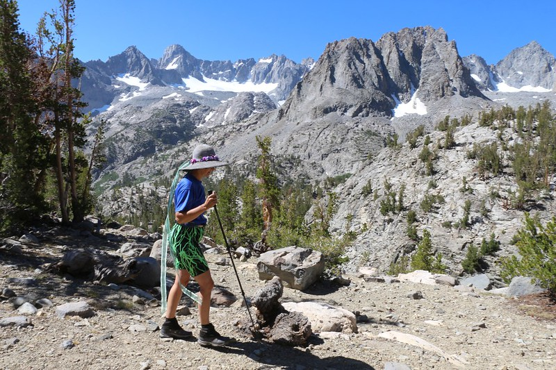 There were stunning views of the Palisade Glacier and other peaks from the Sixth Lake Trail