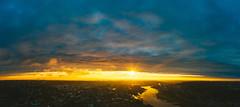 Dramatic sky | Kaunas aerial