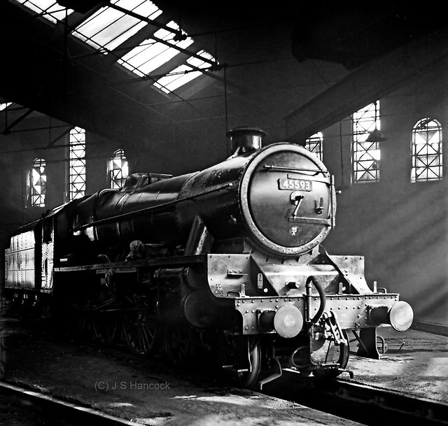 45593. Inside Holbeck Round House on 19 03 66