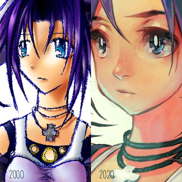 Purple Girl: closeup