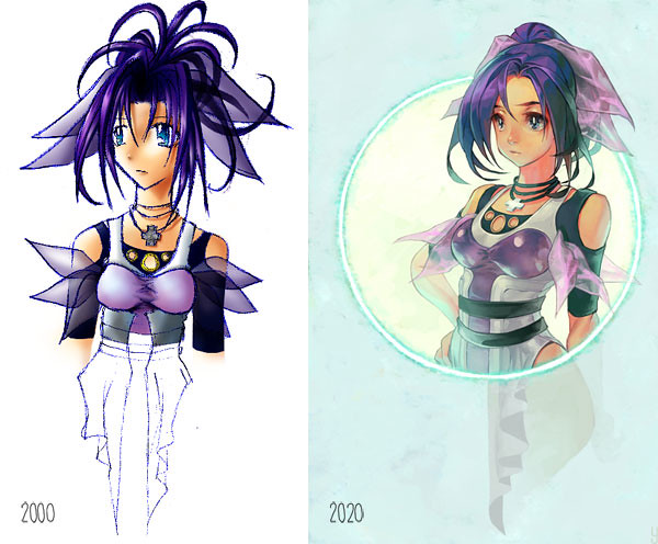 Purple Girl: 2000 and 2020