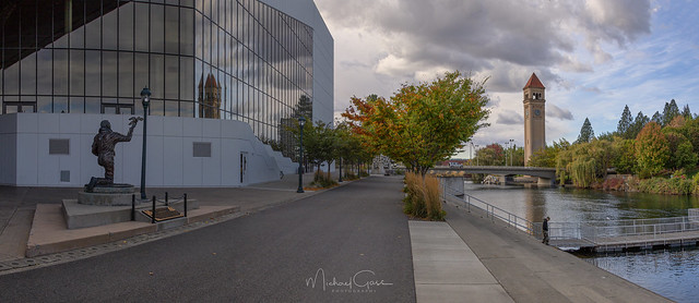 Spokane Cityscape Fall Colors