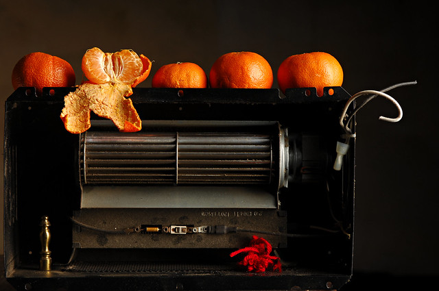 Oranges on a Heater Fan