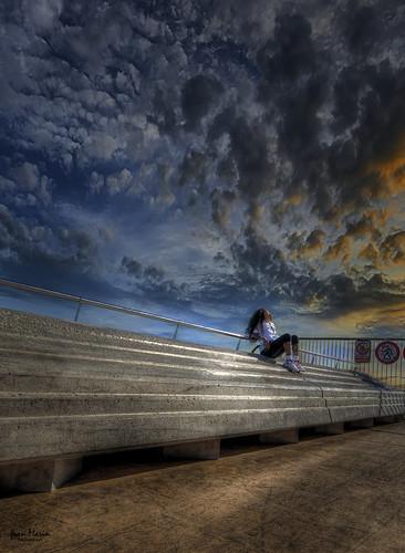 barcelona sunset atardecer relax relajacion cielo sky clouds nubes luz robado