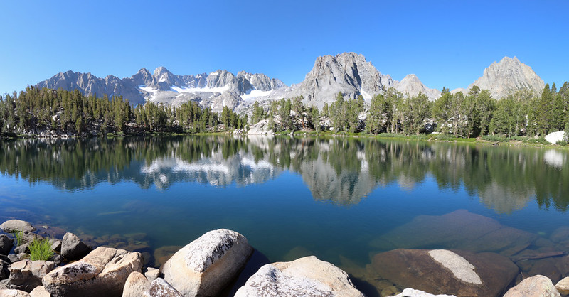 One of the most stunning views in the High Sierra - looking at the Palisade Glacier from Summit Lake