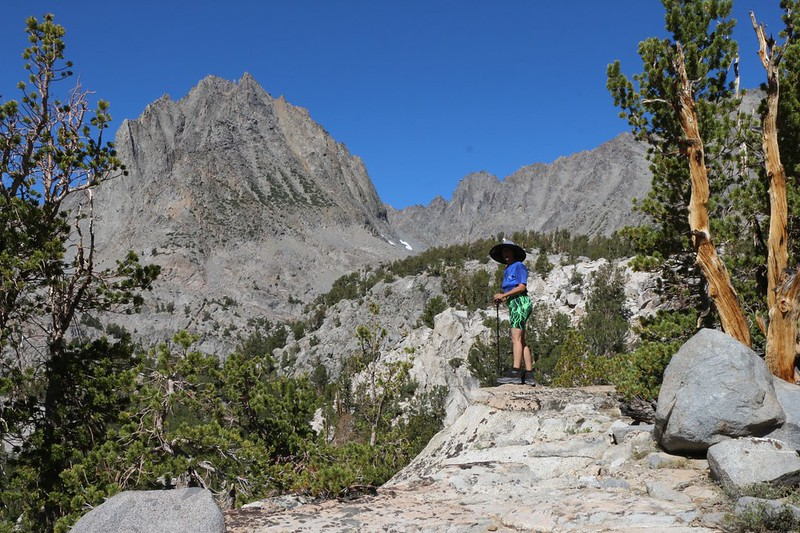 Two Eagle Peak (12966 ft) and the western ridge of Cloudripper as we continued cross-country toward Sixth Lake