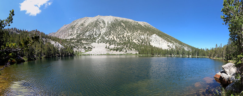 Panorama view of Black Lake, with Sky Haven (12,896 ft) across the way