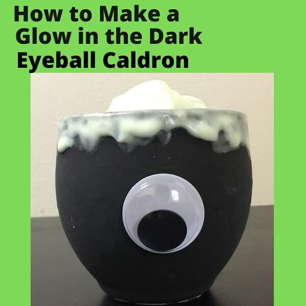 Eyeball Caldron Votive Candle