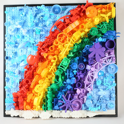 LEGO Rainbow Art