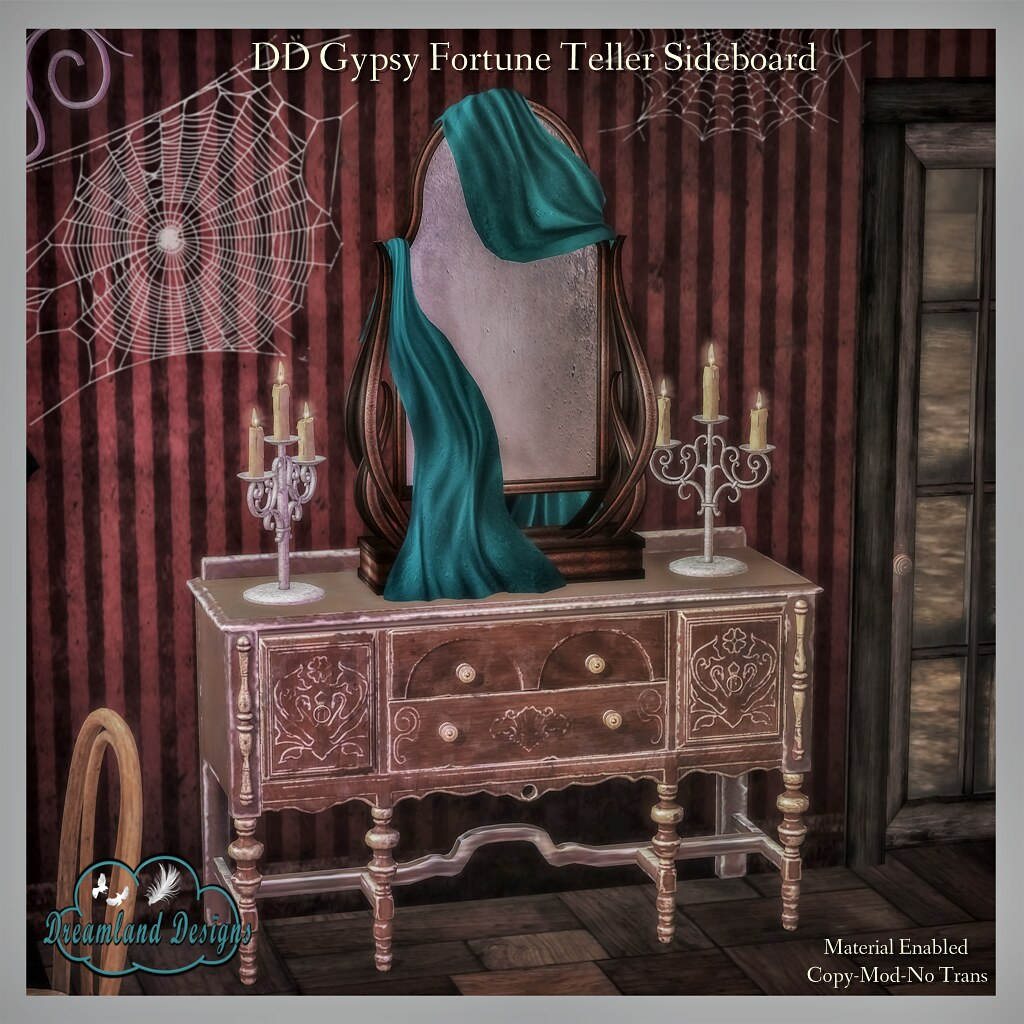 DD Gypsy Fortune Teller Sideboard Set Ad