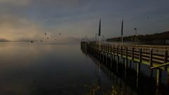 Early morning, rising sun