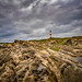 Tarbet Ness Lighthouse, stormy weather