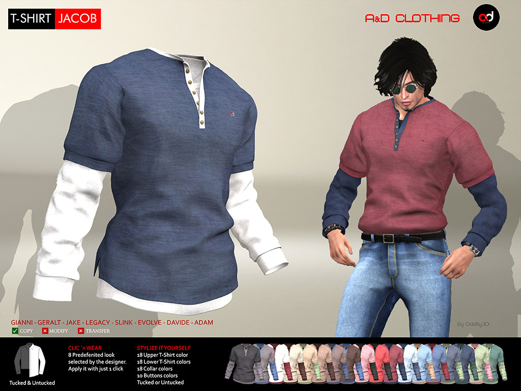 ! A&D Clothing – T-Shirt -Jacob-  NewRelease