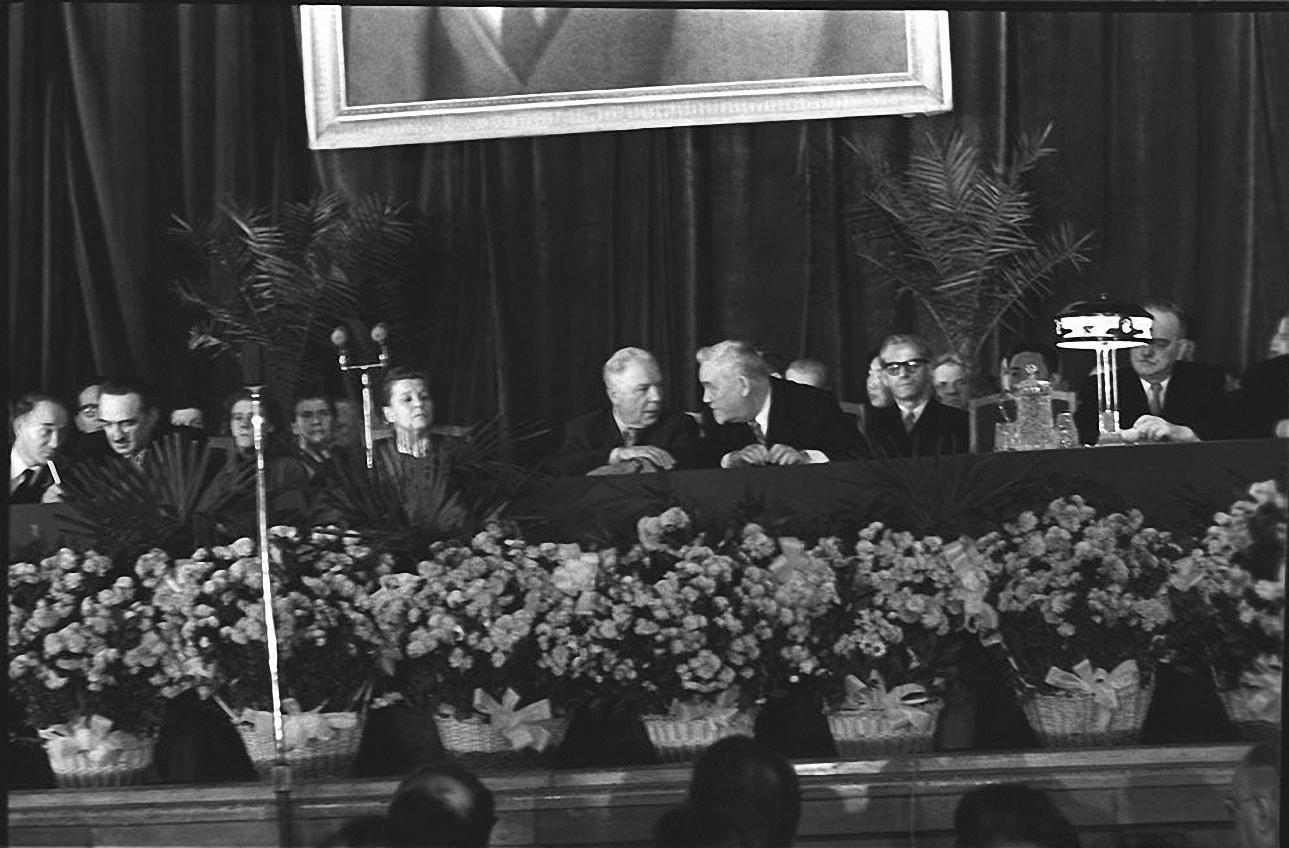 1950-е. Президиум. Колонный зал Дома Союзов