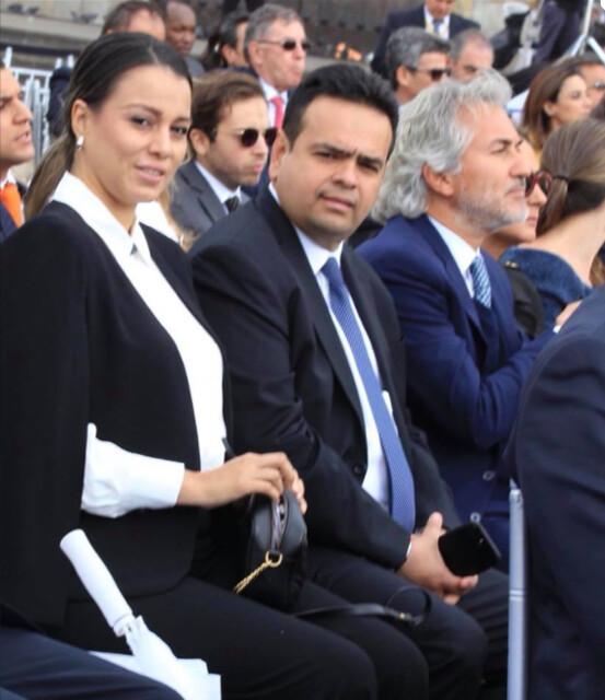 Hernán Gómez Niño, hermano del piloto del Cartel de Sinaloa, aparece como invitado especial con su esposa Linda Cubides en la posesión de Iván Duque.