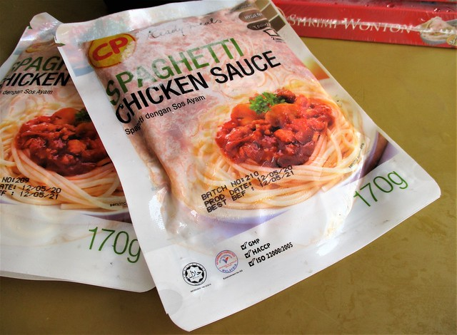 Spaghetti chicken sauce