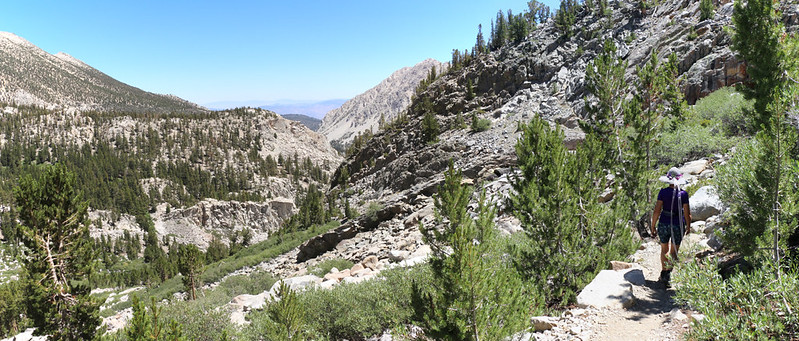 Heading back down the Sam Mack Meadow Trail into the Big Pine Lakes Basin