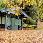 Autumn shelter at Avenham Park, Preston