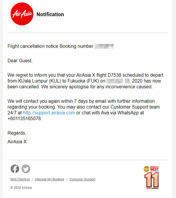 airasia cancel japan