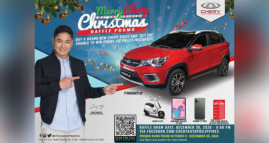 Win a brand-new Chery Tiggo in the Merry Chery Christmas raffle promo