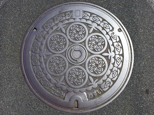 Tatomi Yamanashi, manhole cover (山梨県田富町のマンホール)