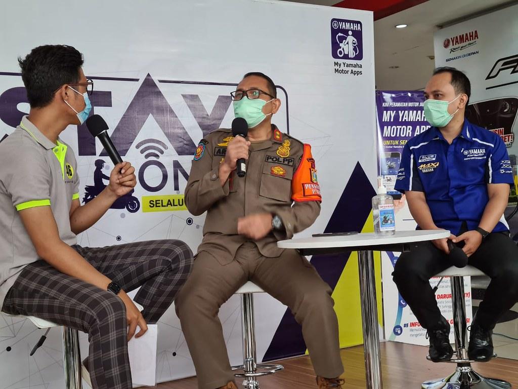 Yamaha Bersama Satpol PP Lawan Covid-19