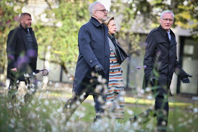 20.10.2020. Valsts prezidents Egils Levits kā nama atjaunošanas projekta patrons apmeklē Rīgas Riharda Vāgnera namu