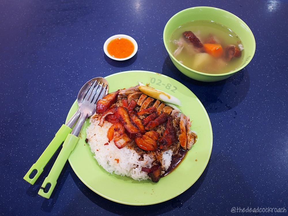 红满天叉烧烧肉饭,hong man tian char siew roasted pork,char siew,roasted pork,roasted meat,food review,food,review,taman jurong market & food centre,roasted duck,roasted duck rice,