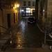Prague : une rue de la Vieille Ville le soir