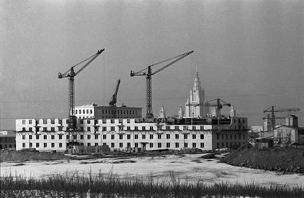 1950-е. Новые дома на Проспекте Вернадского