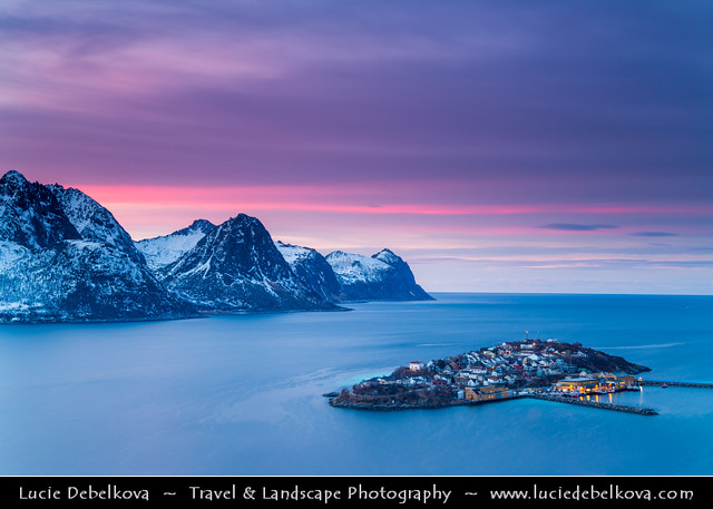 Norway - North of the Arctic Circle - Troms county - Senja - Norway's second biggest island at Sunset